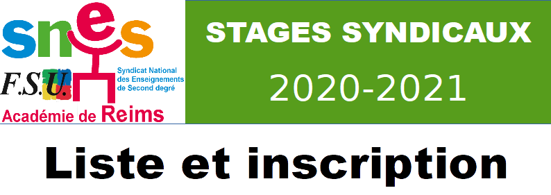 Stages à venir et inscription en ligne